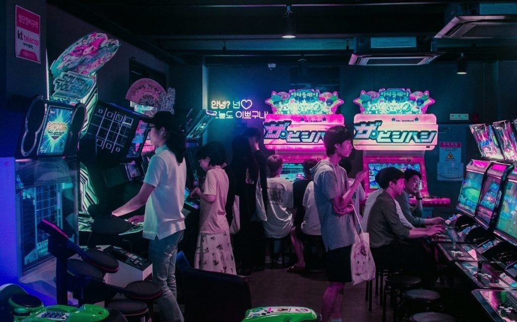 Picture of an arcade in South Korea