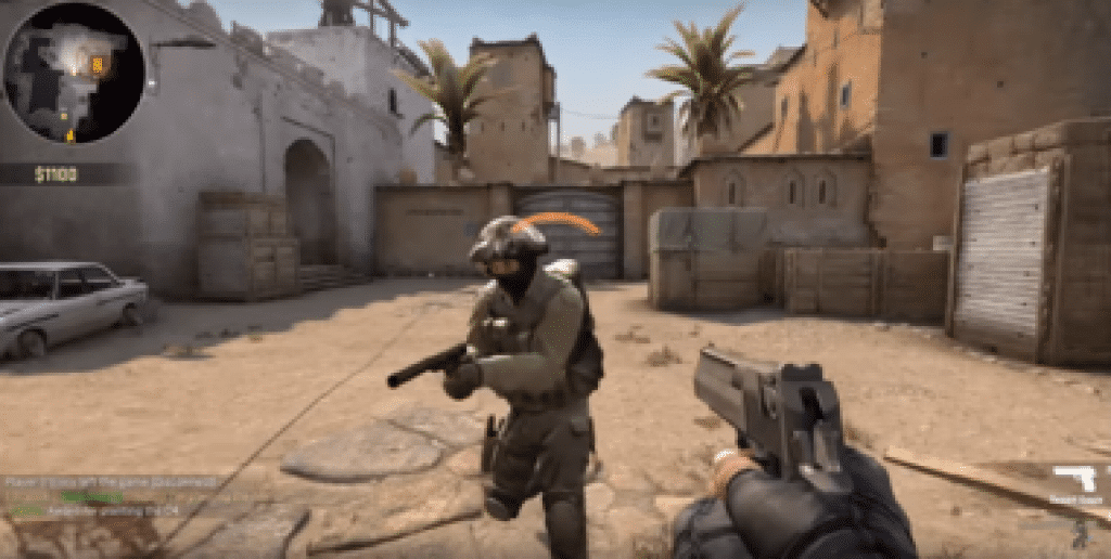 Screenshot of Counter Strike Global Offensive gameplay