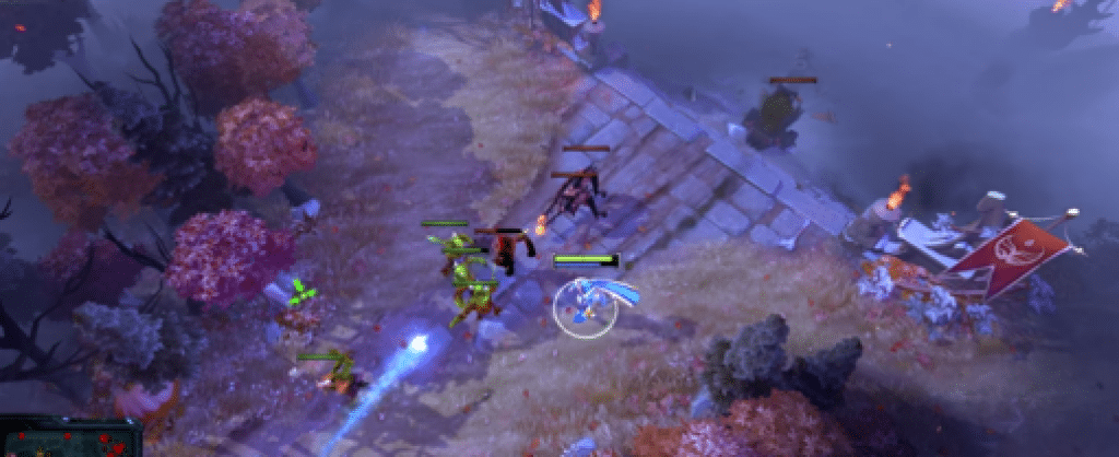 Screenshot of Dota 2 gameplay