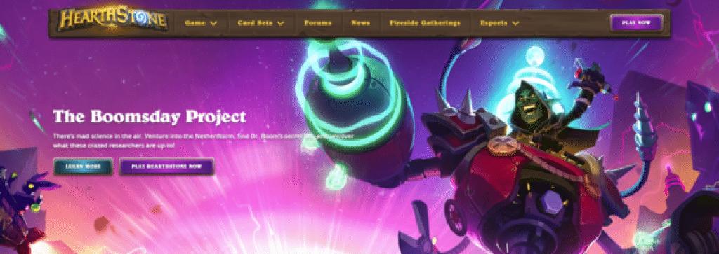 Screenshot of HearthStone