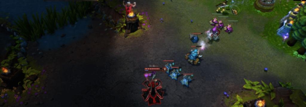 Screenshot of League of Legends gameplay