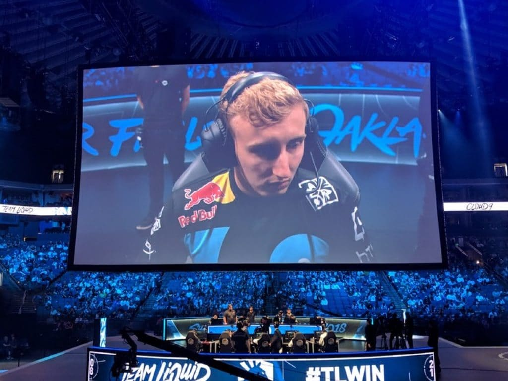 Picture of an eSports competitor during a live match
