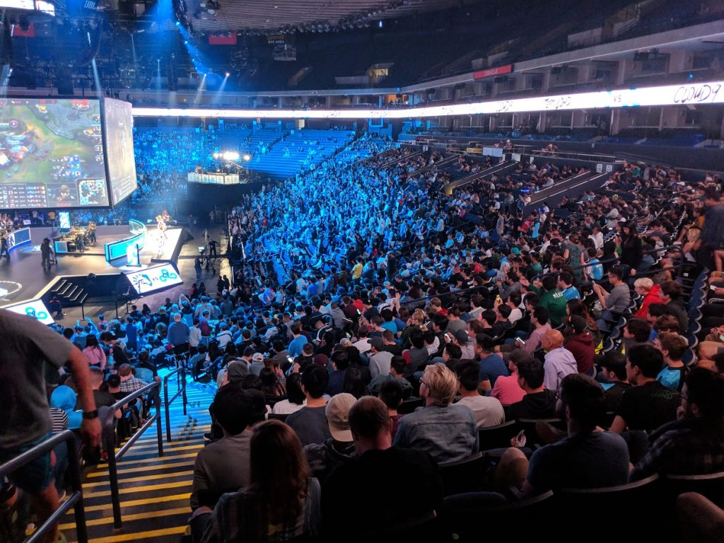 Stadium full of esports fan watching a competition