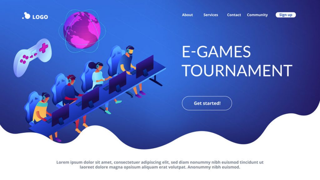 esports website template
